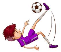 An energetic soccer player Stock Illustration