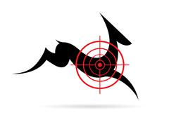 vector image of a deer target on a white background. - stock illustration