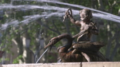 ROTUNDA FOUNTAIN STATUE, AIX EN PROVENCE, FRANCE Stock Footage