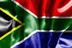 South africa flag Stock Illustration