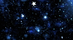Abstract Star Shapes, Space - Loop Blue Stock Footage