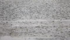 Rain - raining bad weather rainy day closeup - stock footage
