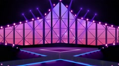 Entertainment TV Studio Set 15 - Virtual Green Screen Background Loop Stock Footage