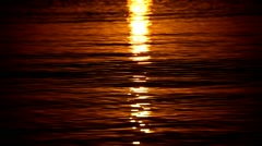 waves at sunrise - stock footage