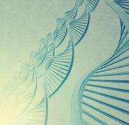 Dna in medical  background Stock Illustration