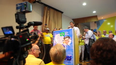 Brazil opposition presidential candidate Aecio Neves - Political campaign Stock Footage