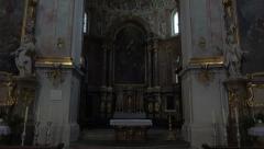 Ettal Abbey Benedictine Monastery Germany inside tilt 4K 005 Stock Footage