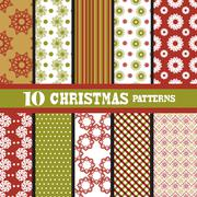 Seamless patterns with snowflakes, for invitations, cards, scrapbooking, print Stock Illustration