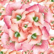 decorative floral pattern - stock illustration