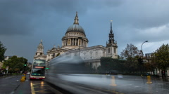 4k Ultra HD  time-lapse of st paul's cathedral in a thunder storm Arkistovideo