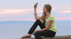 Frustrated Girl Texting Having Poor Mobile Phone Signal HD - stock footage