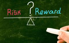 risk reward concept - stock illustration