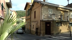 Europe Italy Liguria region Camporosso village 010 house corner in center Stock Footage