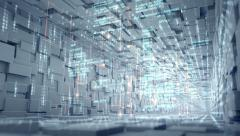 Seamlessly looping abstract technology tunnel - stock footage