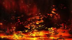 Looped background animation of liquid lava Stock Footage