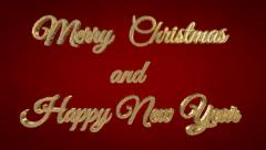 Merry Christmas and Happy New Year - stock footage