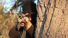 Masked terrorist Stock Footage