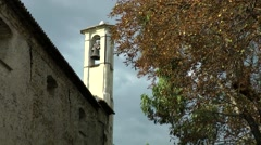 Europe Italy Liguria region Camporosso village 017 old church and autumn mood Stock Footage