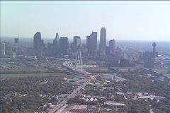 Dallas Approach - Aerial Stock Footage
