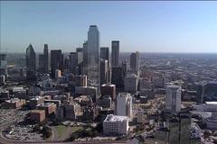 Dallas TX Aerial - stock footage