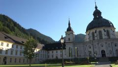 Ettal Abbey Benedictine Monastery Germany pan 4K 002 Stock Footage