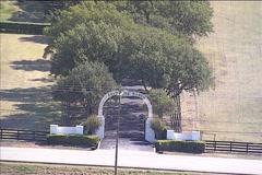 Southfork Ranch Flyover Stock Footage