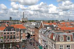 View over the city leiden. Stock Photos