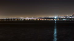 4k time lapse of the new span of the San Francisco Bay Bridge n. view - stock footage