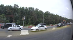 A lot of cars on the highway Moscow, Russia Stock Footage