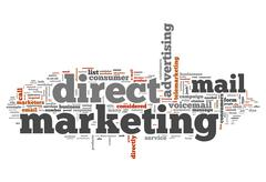 Word cloud direct marketing Stock Illustration