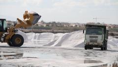 Salt Mine Industry Stock Footage