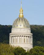 Stock Photo of West Virginia Golden Ornate State Capital Dome