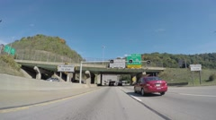 4K Entering POV Fort Pitt Tunnel Stock Footage