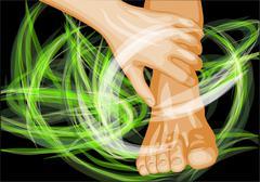 Stock Illustration of foot massage