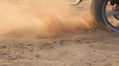 Bike stuck in the sand Stock Footage