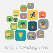 Stock Illustration of logistic and packing icon