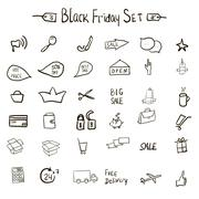 Sale icons theme Π- stock illustration