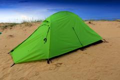 tourist tent - stock photo