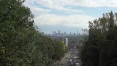 London skyline seen from Highgate Stock Footage