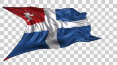 Flag of Cretan state Stock Footage
