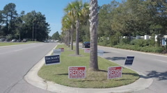 Yard signs show political races in South Carolina (1 of 2)  Stock Footage