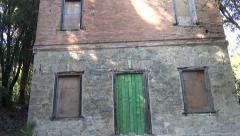 Old Building Facade Stock Footage