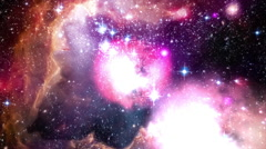 Galactic Space Journey Thru Nebula Stock Footage