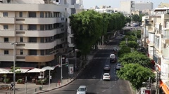 urban traffic .tel aviv - stock footage
