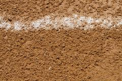 Foul Ball Chalk Line On A Baseball Field Stock Photos