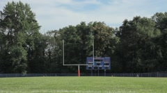 Dolly of football field Stock Footage