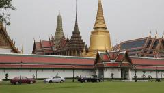 Temple of the Emerald Buddha in Bangkok, Thailand Stock Footage