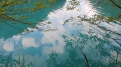 Lake with blue waters (serenity) Stock Footage