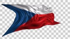 Flag of Czech Republic Stock Footage