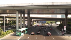 Shenzhen 107 National Highway Traffic landscape, in China Stock Footage